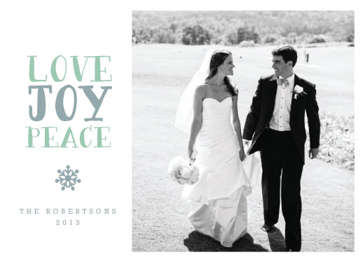 holiday photo cards - love, joy & peace
