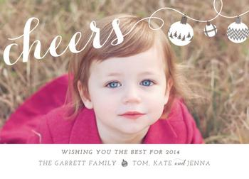 holiday cheers Holiday Photo Cards