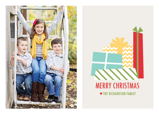 holiday photo cards - Piled Presents
