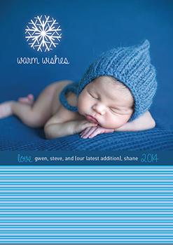 Frosty Baby Holiday Photo Cards