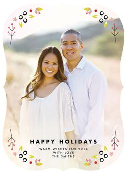 floral frame Holiday Photo Cards