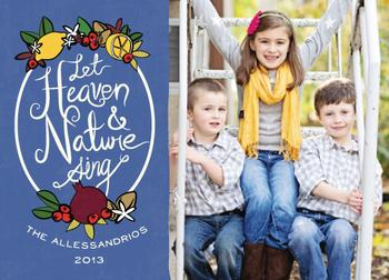 Heaven and Nature Sing Holiday Photo Cards