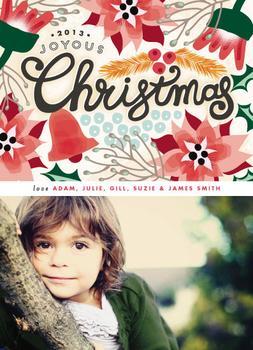 Poinsettia Christmas Hand Letter