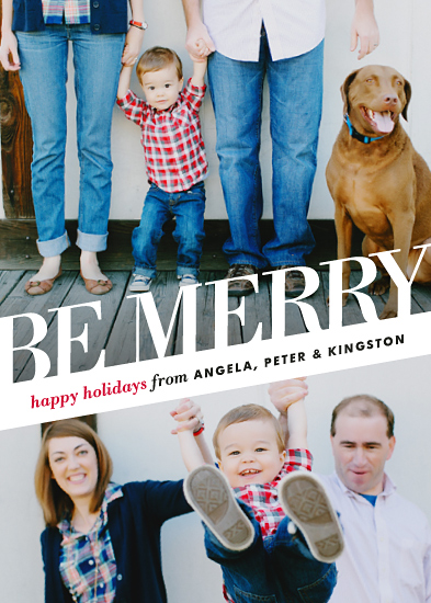 holiday photo cards - Angled Be Merry