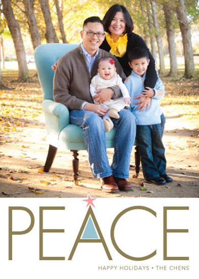 holiday photo cards - Simply Peace
