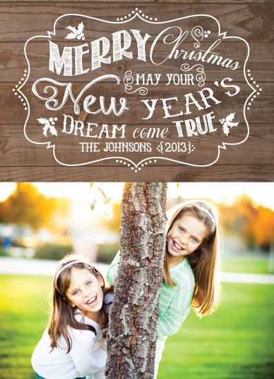 holiday photo cards - New Year's Dream by Drift Design Co.
