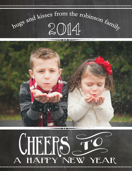 new year's cards - Chalkboard Cheers by Pink Cupcakes And Paper