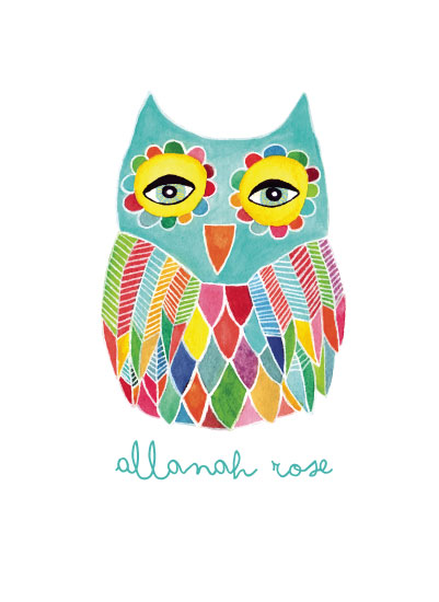 art prints - Watercolor Rainbow Owl by Pip Pip Hooray - Pip Gerard