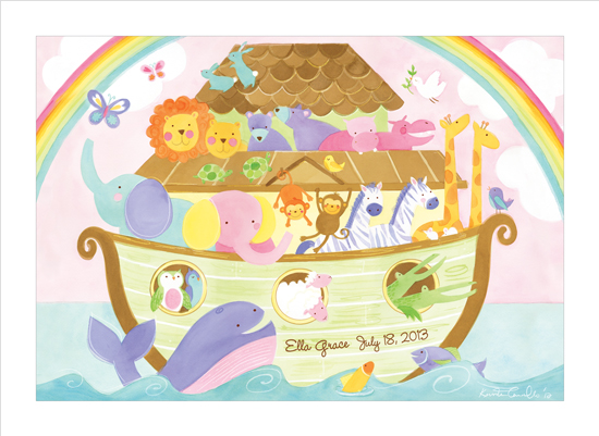 art prints - Noah's Ark Announcement by Kristen Cavallo