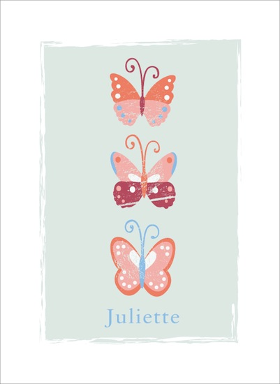 art prints - 3 butterflies by peetie design