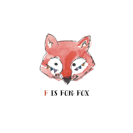 art prints - F is for Fox by Peter Loves Jane