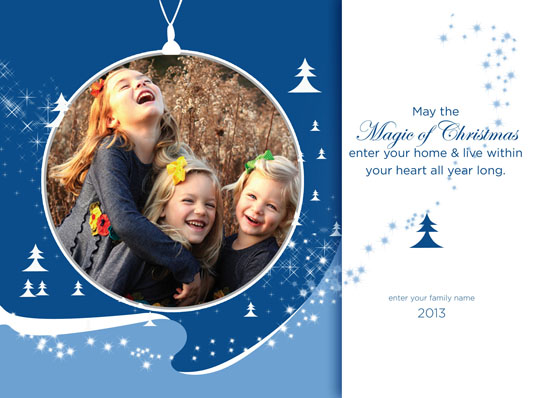 new year's cards - Blue Christmas by Alketa