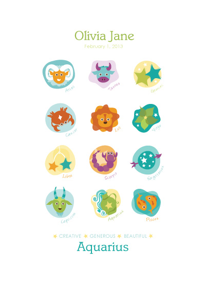 art prints - Signs of the Zodiac by Lisa seng