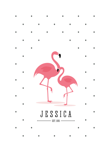 art prints - Flamingo Flamenco by Jordan Bariesheff