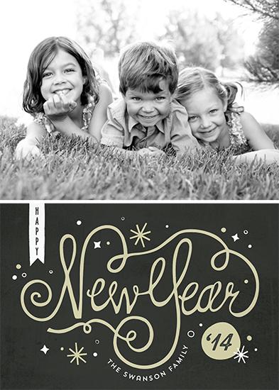 new year's cards - midnight by lena barakat