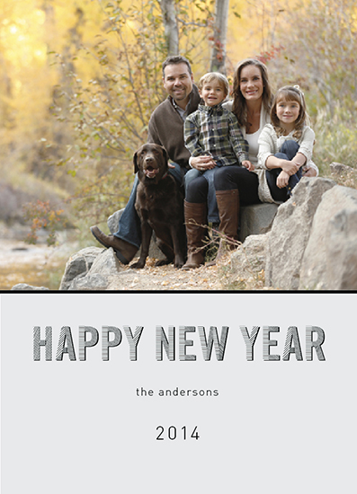 new year's cards - neutral lines by andrea espinosa