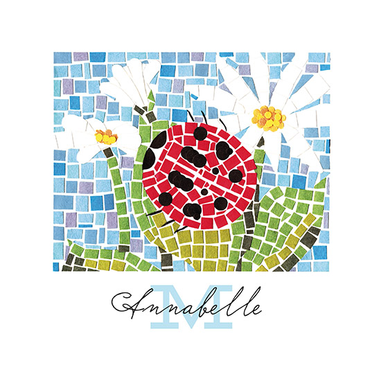 art prints - Ladybug Mosaic by Keen Peachy
