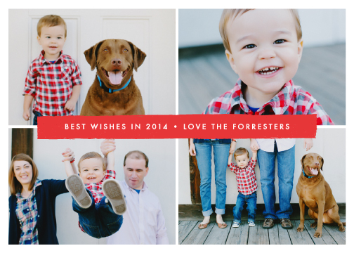 new year's cards - Simple Stripe by Amber Barkley