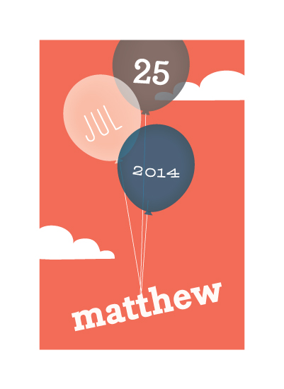 art prints - birthday balloons by Guess What Design Studio