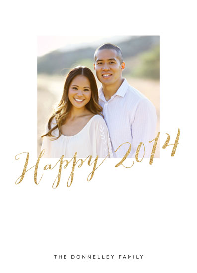 new year's cards - Simple Golden Glitter by Erin Deegan