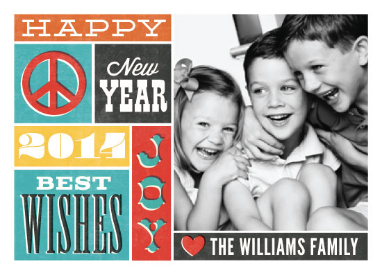 new year's cards - Retro Wishes by Jessie Steury
