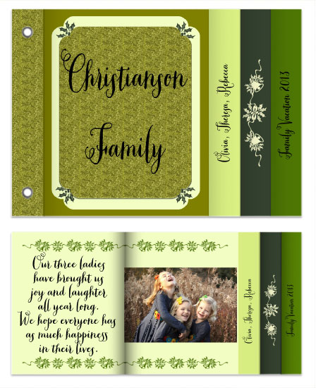minibook cards - Chartreuse by Cindy Jost