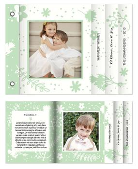 Floral Mint Minibook Cards