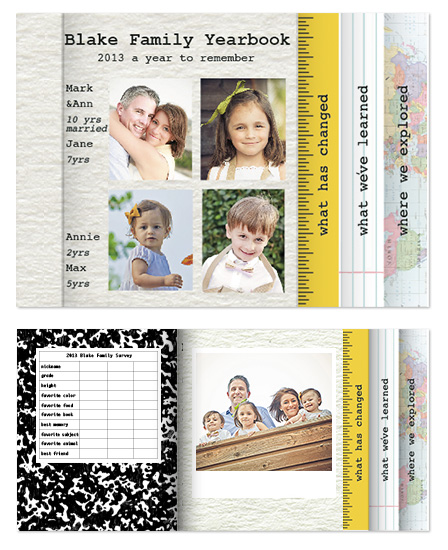 minibook cards - Family Yearbook by ryc paper