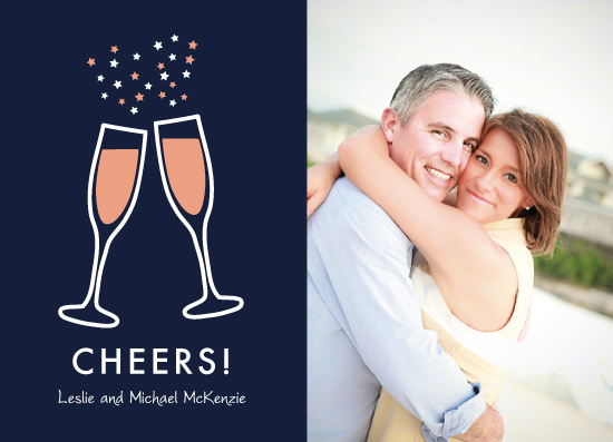 new year's cards - Champagne Cheers by Kampai Designs