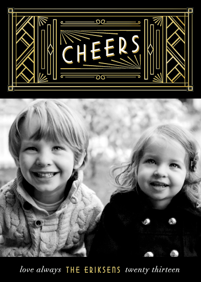 new year's cards - Art Deco New Year