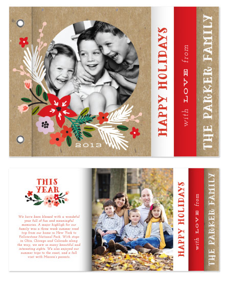 minibook cards - Poinsettia Circle by Alethea and Ruth