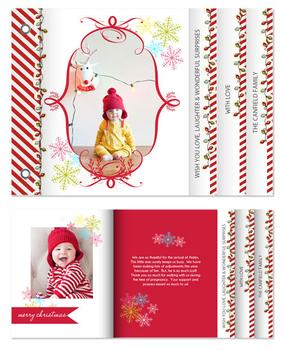 Candy Canes & Happy Sparkly Lights Minibook Cards