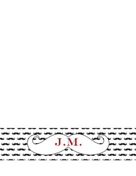 Mustache Personalized Stationary