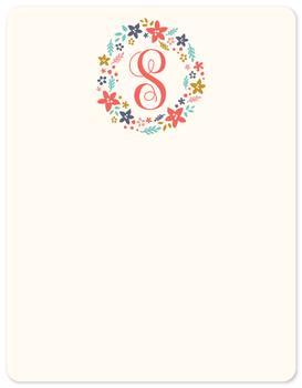 Monogrammed Ring of Flowers