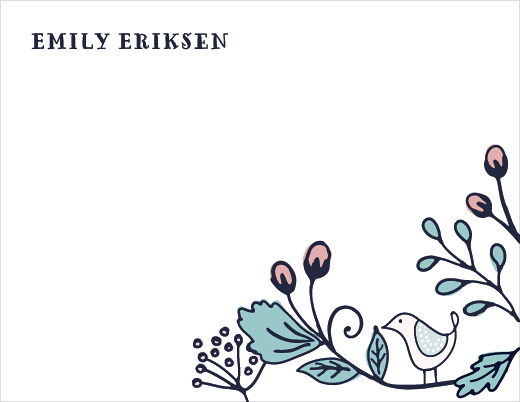 personal stationery - Garden