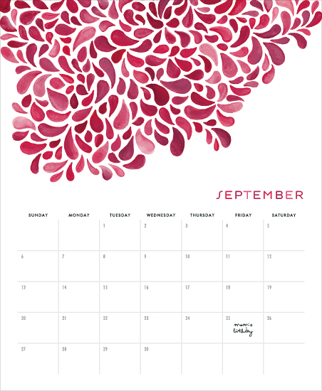 calendars - Handpainted Pattern
