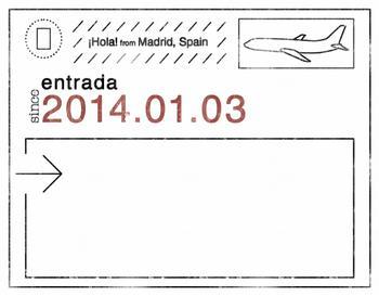 Passport Stamp Travel Stationary