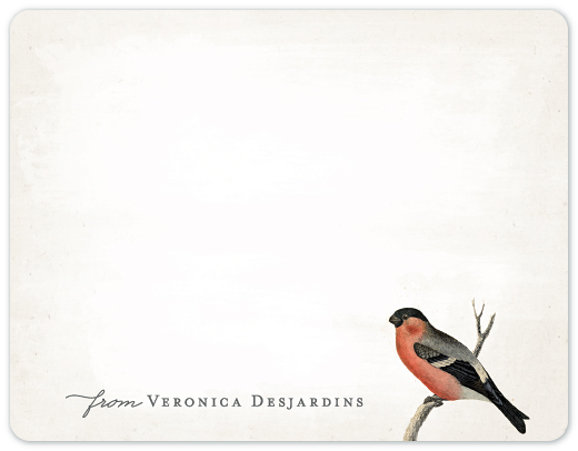 personal stationery - Vintage Bird