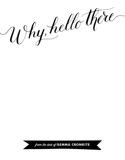 personal stationery - Why, Hello There by Genna Cowsert