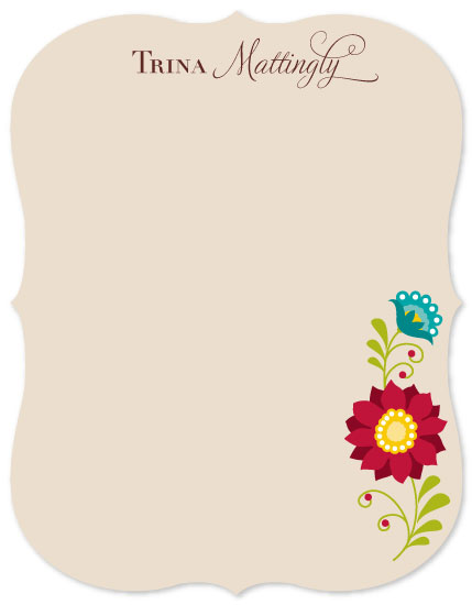 personal stationery - Floral Trellis by Color Continuum