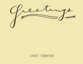 Hand Lettered Greetings