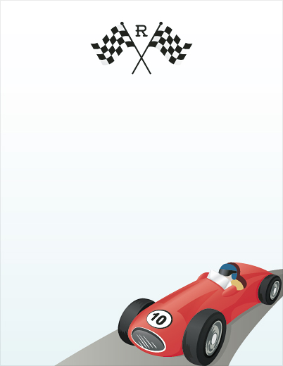 personal stationery - Vintage Race Car