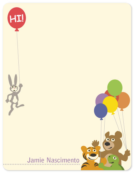 personal stationery - Critter Balloons by TeeEm