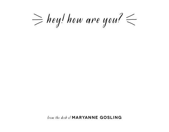 personal stationery - Hey How Are You by Genna Cowsert