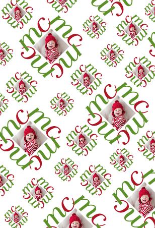 gift wrap - merry monogram by lulablu