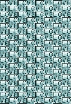 Love stencil pattern