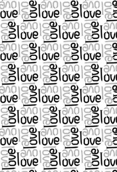 Love Nail Pattern Gift Wrap