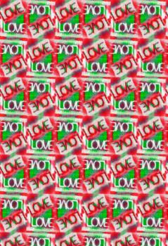 Love Graffiti Pattern