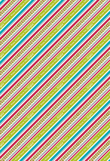 gift wrap - Barberpole Stripe by Color Continuum
