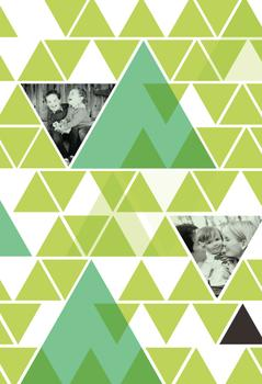 trees and triangles Gift Wrap
